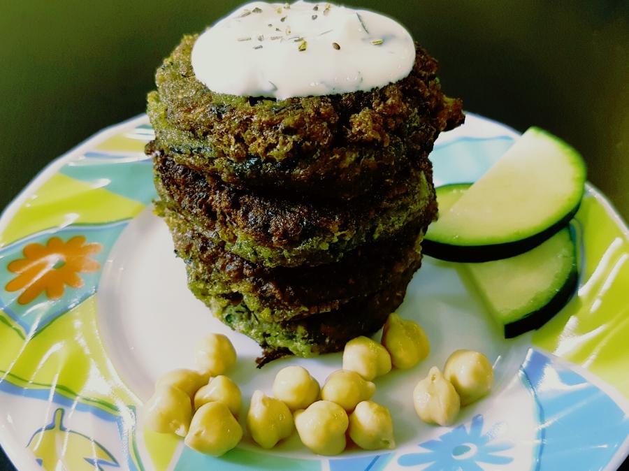 Zucchini Falafel Tikkis